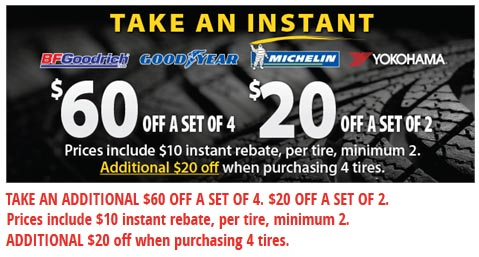 Mr Tire up to $60 OFF tires coupon July 2015