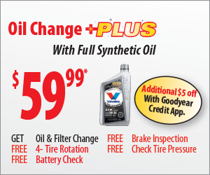 Mr Tire $29.99 Oil Change PLUS coupon May 2016